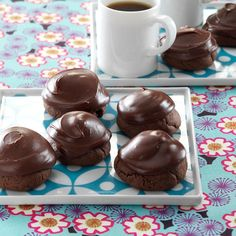 Chocolate-Covered Cherry Cookies Recipe -I always make these chocolate cherry cookies for family gatherings, and they never last very long. They require a little extra effort, but they're worth it. —Marie Kinyon, Mason, Michigan