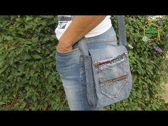 (3) Как сшить сумку своими руками из старых джинсов / шьем сумку через плечо / подробный мастер класс - YouTube