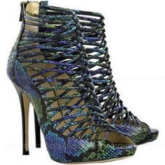 Jimmy Choo Quito Snakeskin Shoes Boots