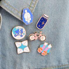 Jewelry & Accessories Cartoon Funny Cat Denim Lapel Enamel Pin Alien Face Daze Big Cat Middle Finger Badge Brooch Man Women Gift Jewelry For Friend Online Shop