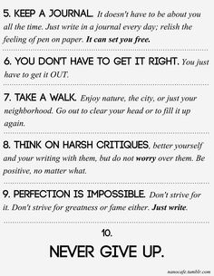 Part 2 of 2 writing tips