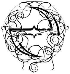 """#Evanescence """"e"""" thorny #ambigram"""