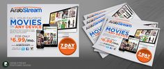 Create an eye catching postcard for media streaming service by PA designs