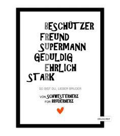 Kunstdruck Bruder Kunstdruck Poster Art Geschenk