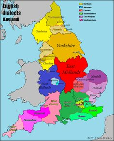 English dialects in England.