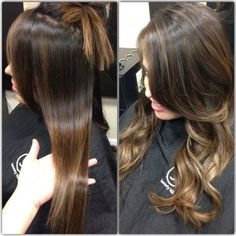 Your hair should be this flawless straight or curled. Ombré with balayage highlights | Yelp