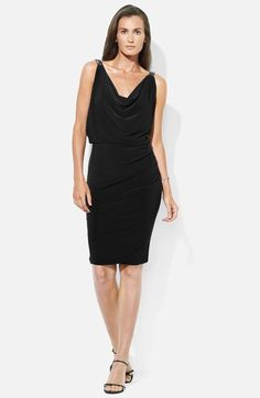 Lauren Ralph Lauren Cowl Neck Jersey Blouson Dress available at #Nordstrom