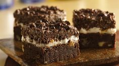 Brownie lovers will go wild over these frosted and peanut-topped treats! They are a wonderful dessert for both everyday and special occasions.