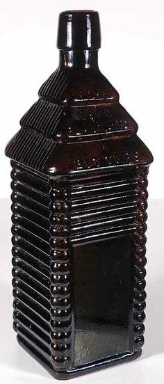 8019. DRAKE PLANTATION BITTERS Dark Strawberry Amber 6 Log - Listing # 8019