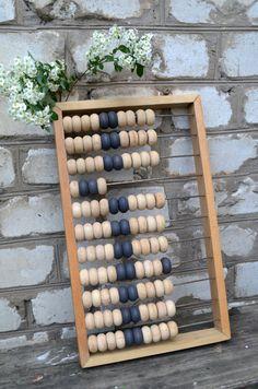 Vintage wood abacus Big Soviet abacus wooden abacus by bestLuba