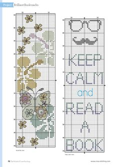 Segnalibro just cross stitch, butterfly cross stitch, cross stitch bookmarks, cross stitch books Cross Stitch Bookmarks, Cross Stitch Books, Crochet Bookmarks, Cross Stitch Cards, Simple Cross Stitch, Cross Stitching, Cross Stitch Embroidery, Embroidery Patterns, Handmade Bookmarks