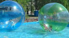 детский аттракцион.водяные шарики