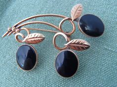 Vintage 12K Gold Filled Brooch Pin with Leaves and by AstrasShadow, $33.00