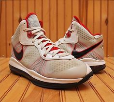 big sale 4cfa8 cdc5b 2010 Nike Lebron VIII 8 V 2 Size 8.5 - White Black Sport Red -