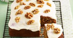 Carrot And Walnut Cake by Taste.Com. Carrot gold — for a vegetable that's simply tops, you can't go past this trusty rabbit-magnet! Banana Bread Recipes, Cake Recipes, Dessert Recipes, Desserts, Square Cake Pans, Square Cakes, Carrot And Walnut Cake, Carrot Cakes, 50th Cake
