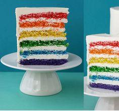 Rainbow cake!? Yes, please!
