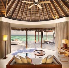 Samoan style ceiling with patio
