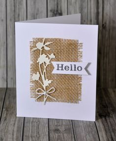 Sizzix 661190 Wildflowers Thinlits Die Set by Tim Holtz Card Making Inspiration, Making Ideas, Daily Inspiration, Handmade Birthday Cards, Greeting Cards Handmade, Happpy Birthday, Burlap Card, Karten Diy, Pretty Cards