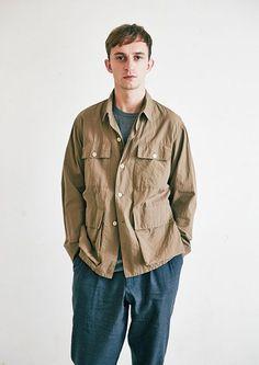 COMOLI / Safari Shirts   CONFECT 茶屋町店   nest Robe Shop Blog   ネストローブの公式ショップブログ #menswear #fashion #outfit