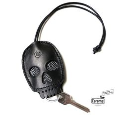 Leather Key Case  Skull by CaramelLeatherCrafts on Etsy
