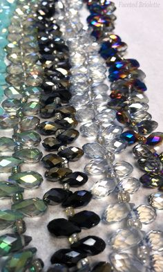 Faceted Briolette beads from your truly. Also called teardrop beads, and going fast from House of Gems. Translucent Glass, Glass Beads, Beaded Bracelets, Gems, Texture, House, Beautiful, Color, Jewelry
