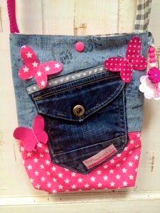 Tasche mit alter Jeans