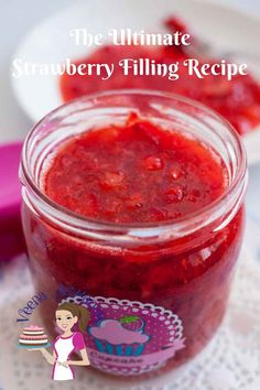 A strawberry Filling is an ultimate dessert that works a big treat in endless recipes. From cake fillings, tart fillings brushed over fruit tarts or topped over your favorite ice cream or breakfast pancakes. This decadent recipe is so simple, easy and eff Cake Filling Recipes, Dessert Recipes, Desserts, Cake Flavors, Fruit Filling Recipe, Dessert Sauces, Yummy Recipes, Tart Filling, Icing Recipe