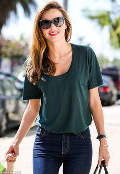 mk. simple clothes, bright lipstick