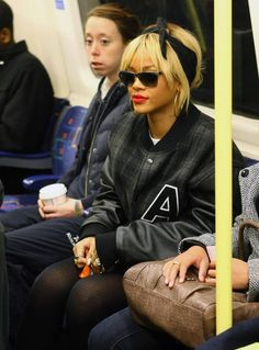 Rihanna caught riding public transportation with a bag of Cheetos