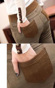 08aefb646b2 Plus Size S-4XL Women Pencil Pants high waist Skinny Black Thick Velvet  Warm Winter
