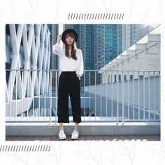 <i>Style Equation: Culottes + White Sneakers</i>