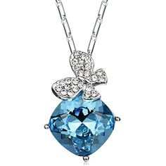 Girlfriend Christmas Gifts Women Jewelry Blue Crystal Pendant Necklace for Women Christmas Gifts for Her September Birthstone Necklace for Mothers ** You can get more details by clicking on the image. Christmas Gifts For Girlfriend, Christmas Gifts For Girls, Birthday Gifts For Women, Pendant Necklace, Necklace Chain, Crystal Necklace, Pendant Design, Birthstone Necklace, Crystal Pendant