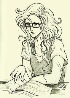 Annabeth Chase - Haha, with secret reading classes that she hates wearing but that Percy thinks are super cute. :)