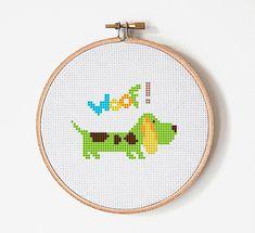Dog Cross Stitch Pattern  Embroidery  Room от PatternStitchShop