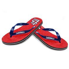 St. Louis Cardinals Women's Glitter Flip Flop Sandals