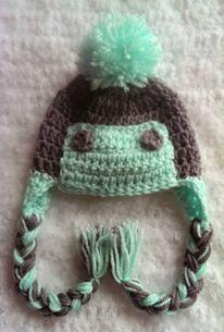 crochet winter hat, girl hat, boy hat, eskimo hat by NissCrochetingShop on Etsy