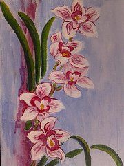 Betty Alford - Delightfully Orchid Lovely original pink orchid painting. My mama would've loved these.  �2014 IAMTHEBETTY  Every flower pic or flower painting I do is in remembrance of my mama. She always said she didn't want any flowers when she was dead if we did not get her any while she was alive. Since she is always alive to me I choose to share them with her and you.