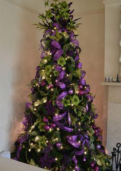 Purple and Green Christmas Tree: Christmas Decorators