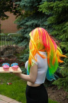 ON SALE Neon Pastel / Pink Orange Yellow Lime Aqua / by ExandOh, $102.00