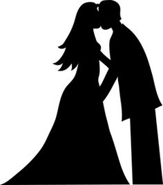 Bride And Groom Kissing Silhouette Smu Clip Art