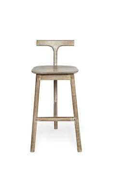Salvage Wood T-Back Bar Stool - Collection - French Connection - With clean lines and a faded grey mango wood effect, this contemporary bar stool will bring bistro chic character to any dining room. Its pale salvaged-style finish is sure to brighten up your breakfast bar with ease. Read more at http://www.frenchconnection.com/product/Homeware+Collection