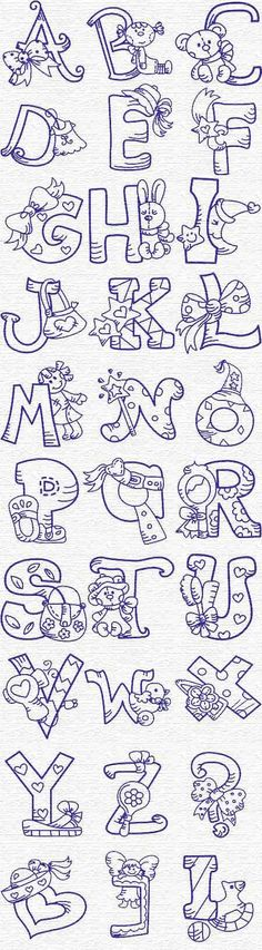 Free Embroidery Designs, Sweet Embroidery, Designs Index Page alphabet Embroidery Applique, Cross Stitch Embroidery, Machine Embroidery Designs, Embroidery Patterns, Embroidery Tattoo, Embroidery Alphabet, Embroidery Supplies, Embroidery Thread, Colouring Pages