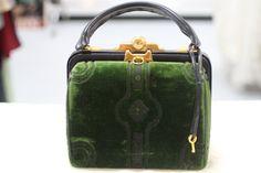 Vintage Green Velvet Roberta Di Camerino by StyleCycleVintage