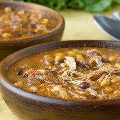 Slow Cooker Chicken Enchilada Soup...maybe beef roast instead of chicken