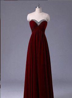 Burgundy prom dress, homecoming dress