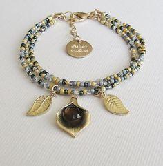 Beaded Bracelet Personalized Gemstone by wearitpersonalized