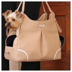 Madison Mia Michele Mocha Dog Carrier, purse style dog carrier