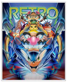 RETRO MAGAZINE COMMISSION on Behance