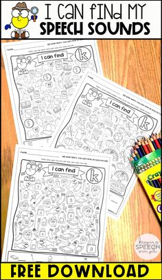 This free download includes three worksheets for /k/ for all three word positions. This is a fun way for students to practice their speech sounds in a natural context. These no prep printables are a must have for the busy SLP! These speech therapy activities are a great option for mixed therapy groups. Use them in your speech room or send home for speech practice.  Keep these on hand for those days when you need a quick and effective therapy activity and you're short on time. An SLP must have!