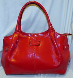 Kate Spade Stevie Red Patent Handbag Purse Tote Large Diaper Bag Us Most Por Brans